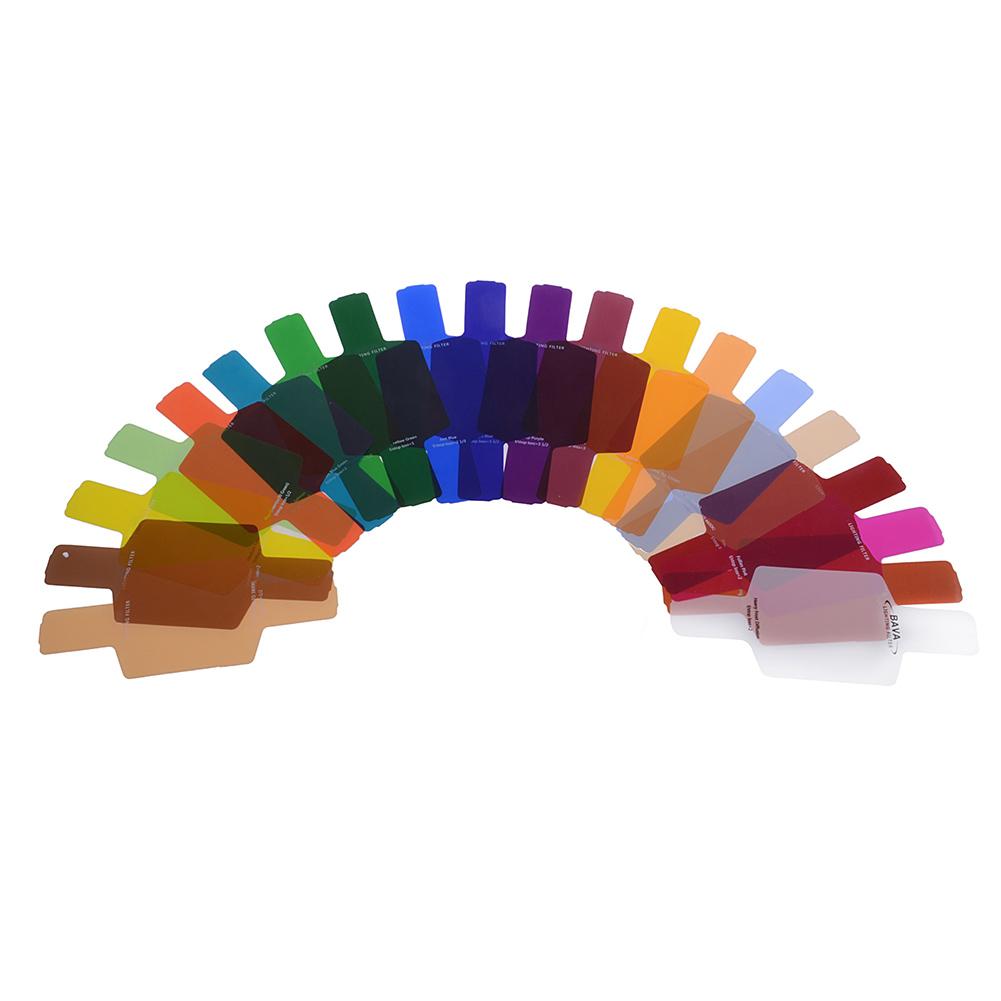 neewer 20pc flash speedlite color gels universal lighting filter kit strobist