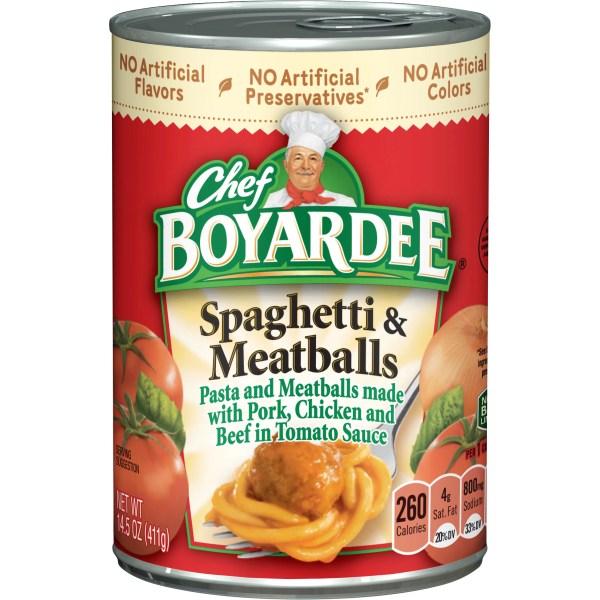Chef Boyardee Spaghetti and Meatballs 145 oz Walmartcom