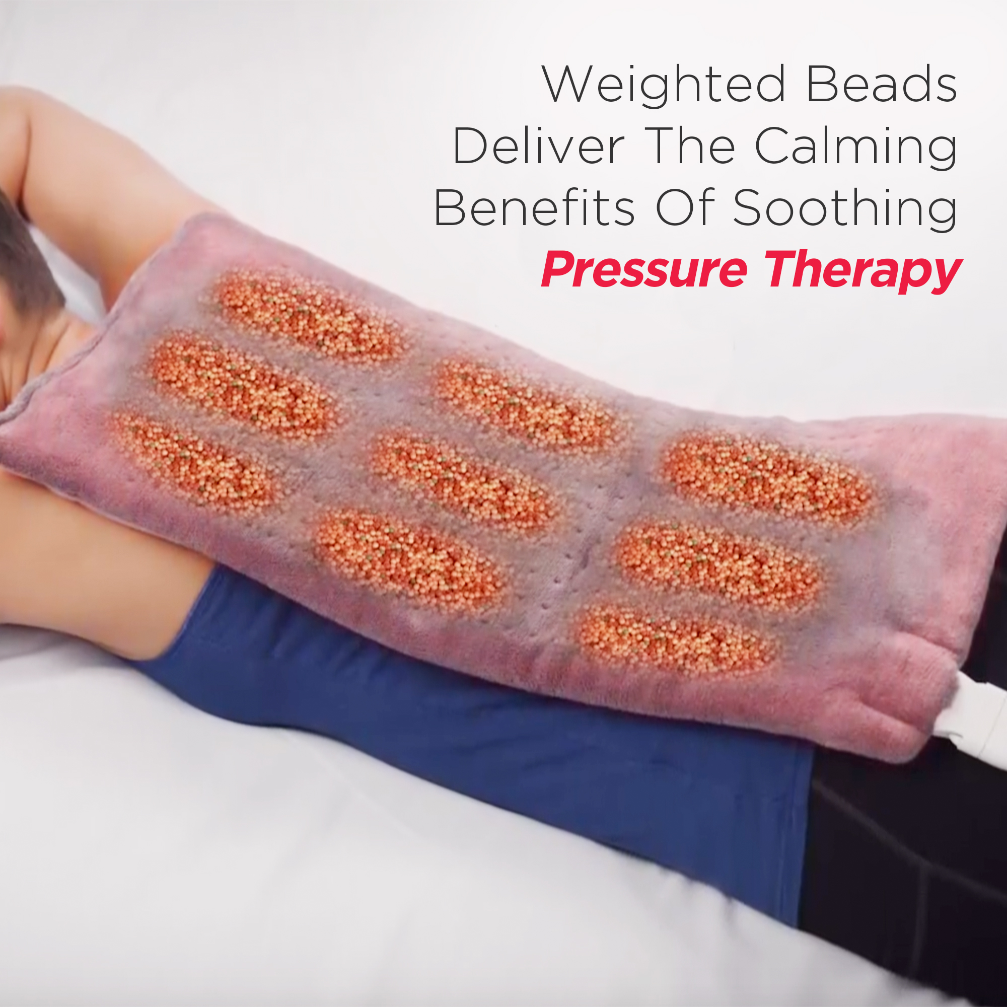 as seen on tv calming heat massaging weighted pad