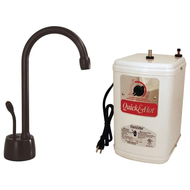 westbrass velosah hot water dispenser faucet kit with instant hot tank bronze