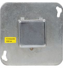 plug fuse box cover unit 4 square box type 15 amps ac 125vac voltage [ 1125 x 1124 Pixel ]