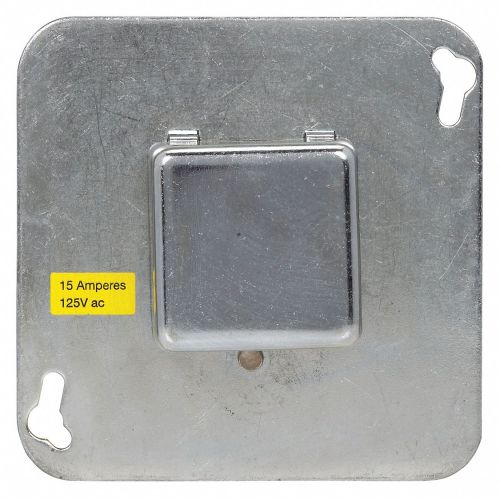 small resolution of plug fuse box cover unit 4 square box type 15 amps ac 125vac voltage