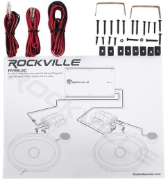 2 pairs rockville rv68 2c 6x8 5x7 component car speakers 4  [ 1543 x 1700 Pixel ]