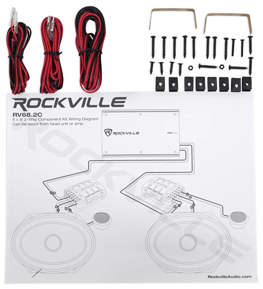medium resolution of 2 pairs rockville rv68 2c 6x8 5x7 component car speakers 4