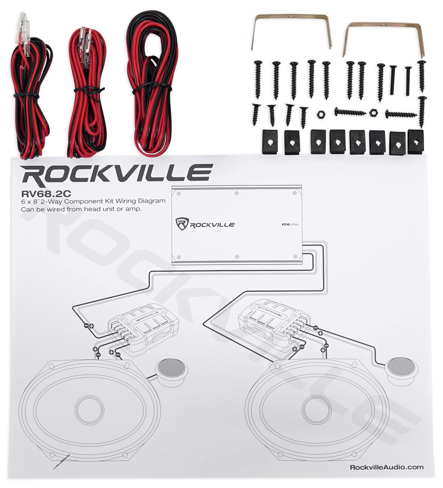 hight resolution of 2 pairs rockville rv68 2c 6x8 5x7 component car speakers 4