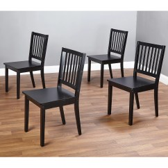 Dining Chair Sets Of 4 Tiffany Blue Covers Shaker 5 Piece Set Black Walmart