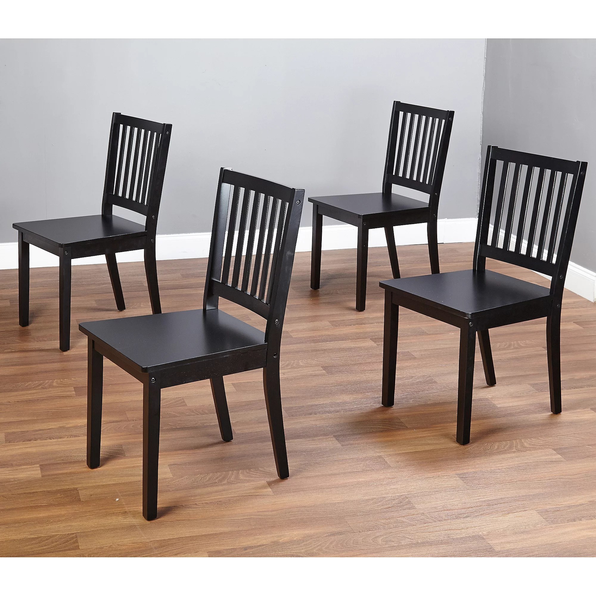 Dining Chairs Set Shaker 5 Piece Dining Set Black Walmart