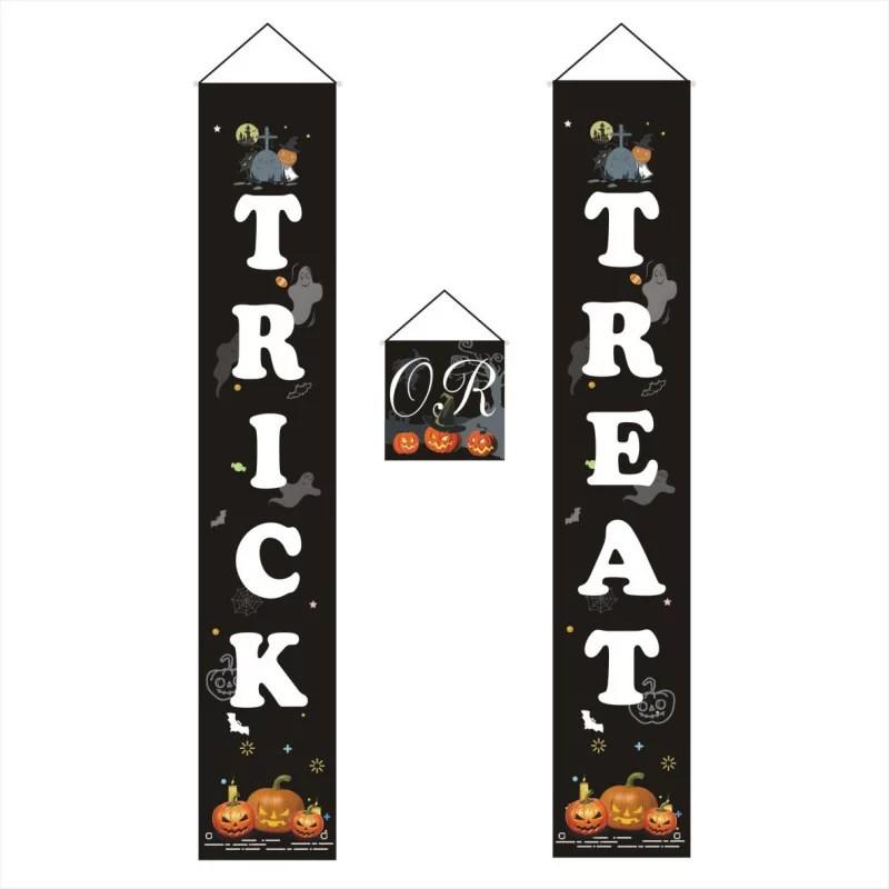 Halloween Decorations Outdoor Trick Or Treat Halloween Signs For Front Door Or Indoor Home Decor Walmart Com Walmart Com