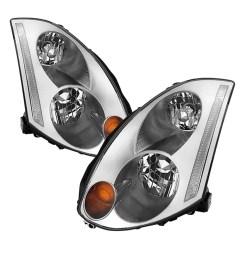 vipmotoz oe style headlight headlamp assembly for 2003 2007 infiniti g35 coupe xenon hid model driver passenger side walmart com [ 1000 x 1000 Pixel ]