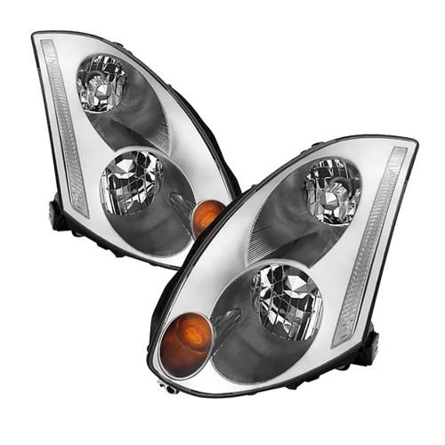 small resolution of vipmotoz oe style headlight headlamp assembly for 2003 2007 infiniti g35 coupe xenon hid model driver passenger side walmart com