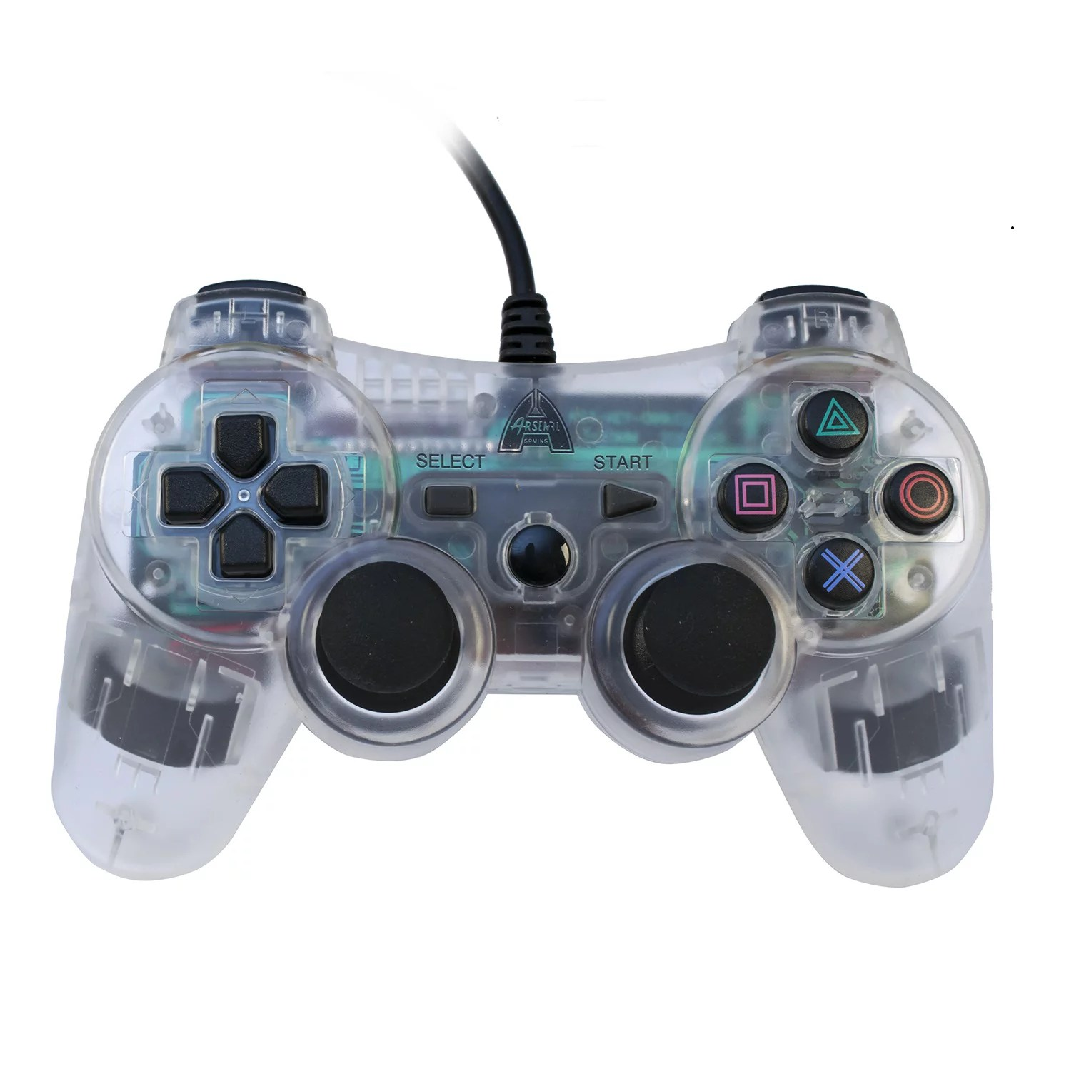 Arsenal Gaming PS3 Wired Controller. Clear with Lights - Walmart.com - Walmart.com