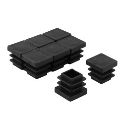 Plastic Inserts For Metal Chair Legs Velvet Stool Table Furniture Protector Square Tube Black 8pcs
