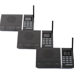 samcom 10 channel digital fm wireless intercom system for home and office 3 stations [ 5760 x 3840 Pixel ]