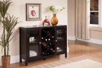Kings Brand Furniture Wood Wine Rack Console Sideboard ...