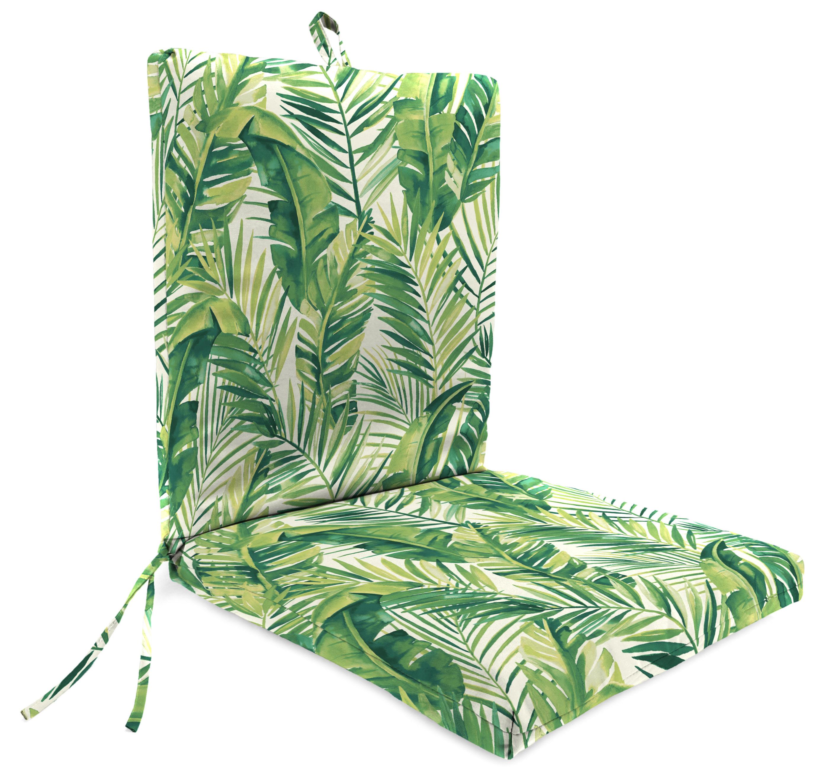 mainstays chair cushion palm leaf