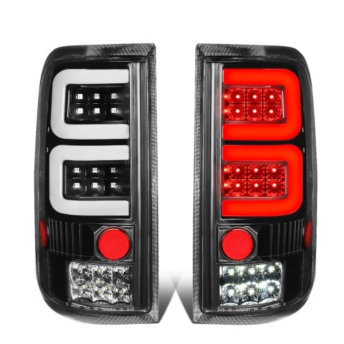 small resolution of for 2004 to 2008 ford f150 lobo pair black housing 3d led tube bar tail light rear brake lamps walmart com