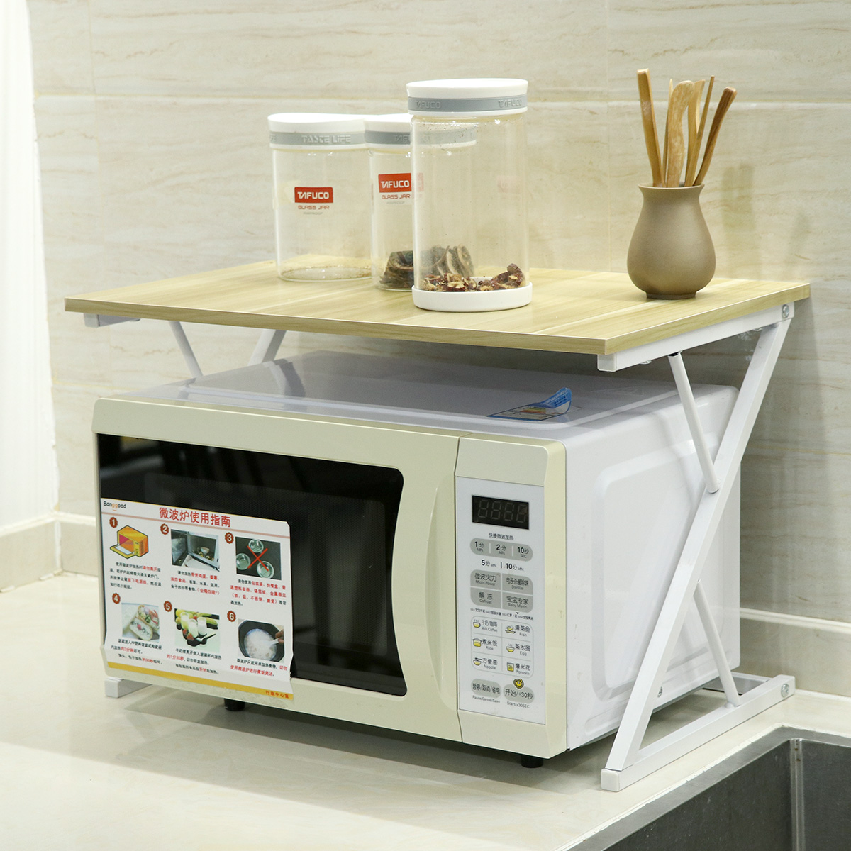 wood microwave oven rack wood microwave oven stand rack 2 layers storage racks kitchen cabinet counter shelf microwave oven rack microwave oven stand