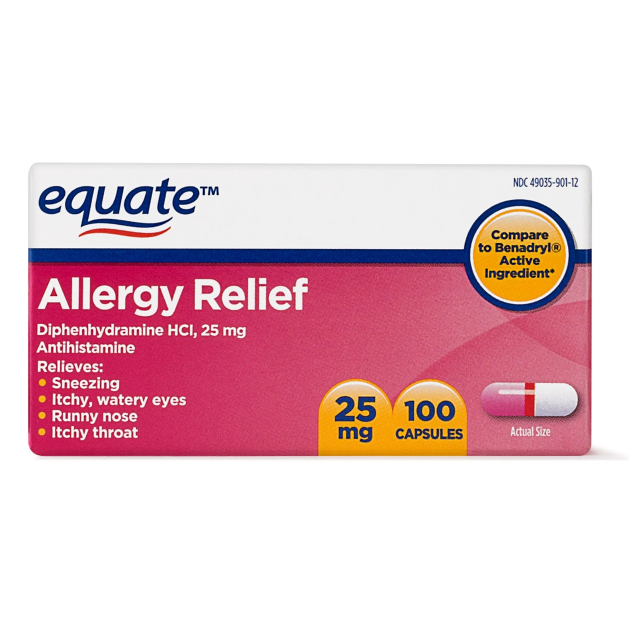 equate allergy relief diphenhydramine