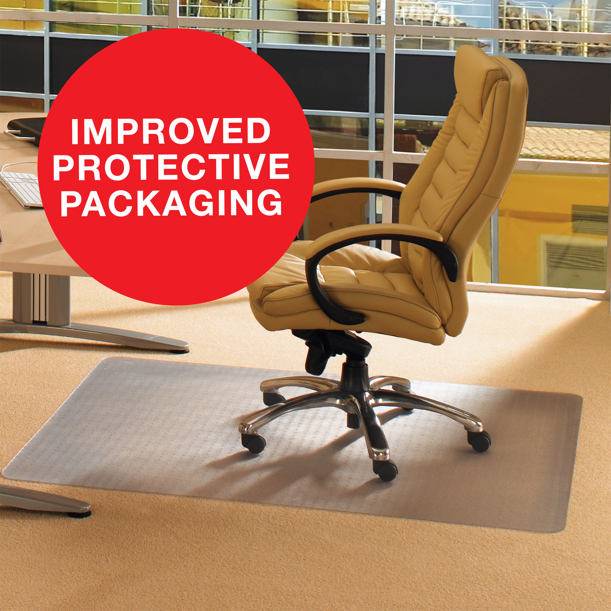 office chair mat camping chairs on sale cleartex advantagemat for low pile carpets 1 4 or less phthalate free pvc rectangular size 48 x 60 walmart com