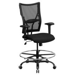 Chair Mesh Stool Wheelchair Fails Flash Furniture Hercules Series Big And Tall Drafting With Arms Black Walmart Com