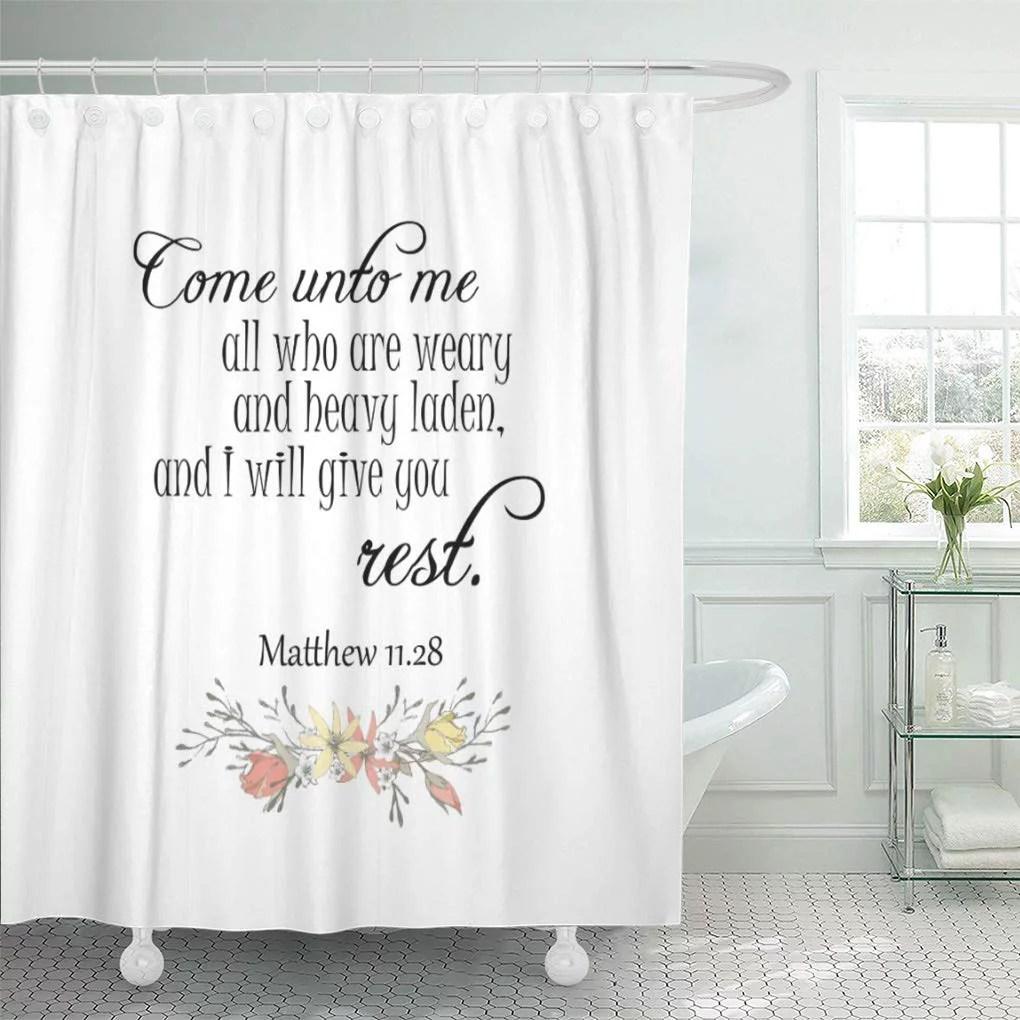 cynlon faith i will give you verses scripture bathroom decor bath shower curtain 66x72 inch