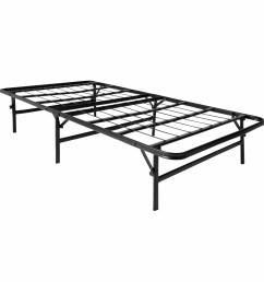 lucid foldable metal platform bed frame and mattress foundation walmart com [ 1500 x 1500 Pixel ]