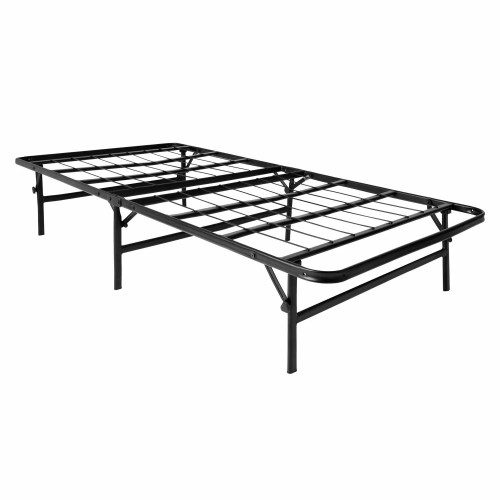 small resolution of lucid foldable metal platform bed frame and mattress foundation walmart com