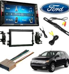 jvc kw v140bt double din bt in dash dvd cd am fm stereo double din stereo install dash kit w wire harness for ford lincoln mercury cars rear view  [ 1000 x 1000 Pixel ]