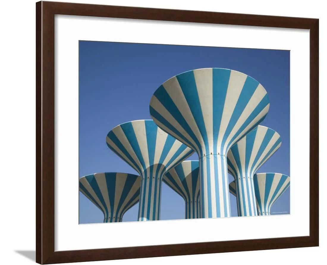 Kuwaiti Water Towers Sideeq Kuwait Framed Print Wall Art