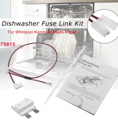 675813 for whirlpool kenmore dishwasher thermal fuse link for door switch walmart com [ 1200 x 1200 Pixel ]