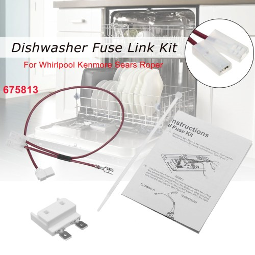 small resolution of 675813 for whirlpool kenmore dishwasher thermal fuse link for door switch walmart com