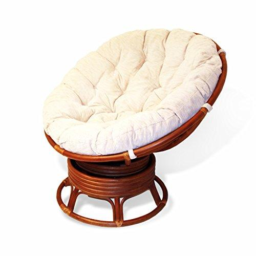 papasan chair ottoman nash bed rattan wicker swivel rocking round with cushion colonial light brown walmart com