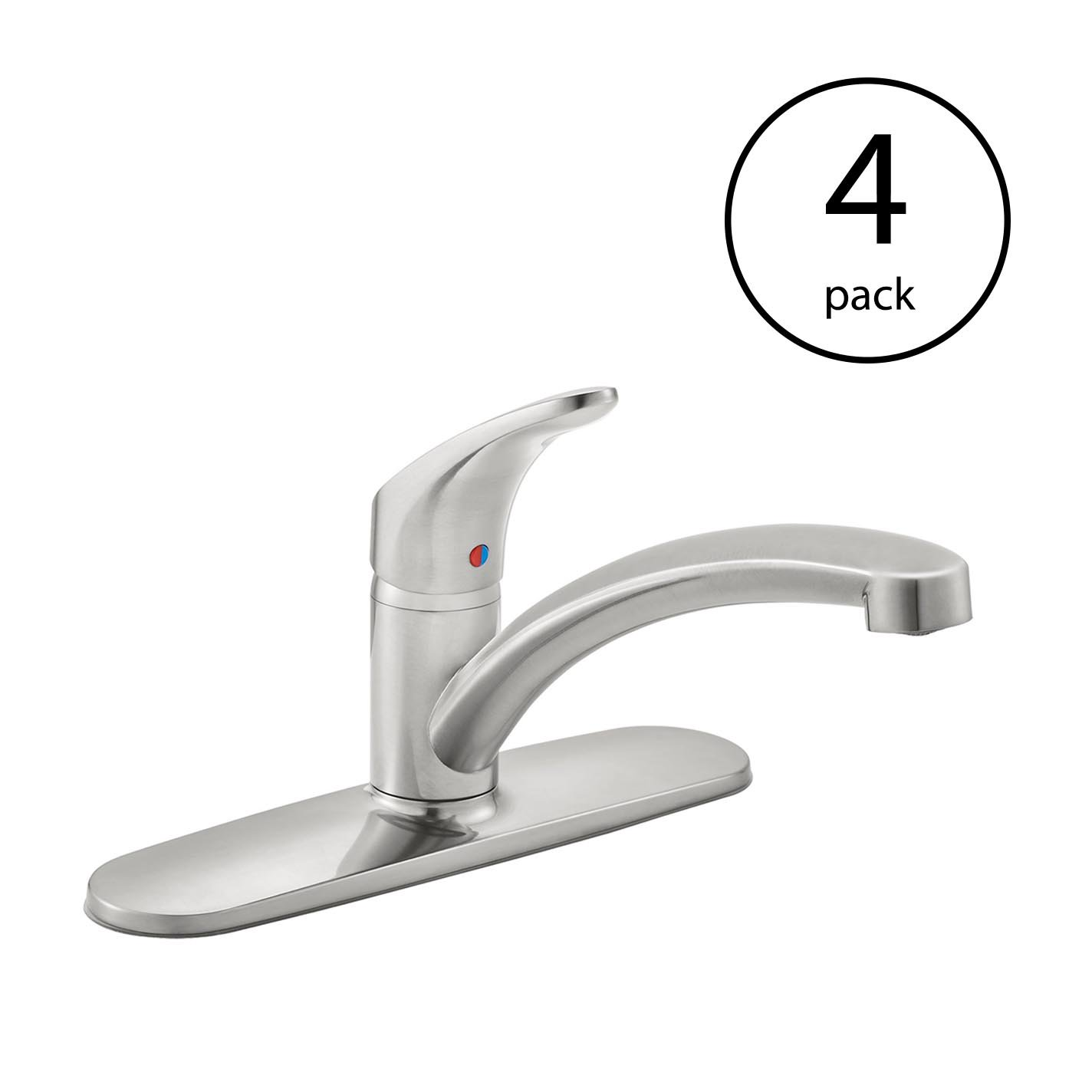 kitchen faucets stainless steel furniture ikea american standard colony pro 1 handle faucet 4 pack