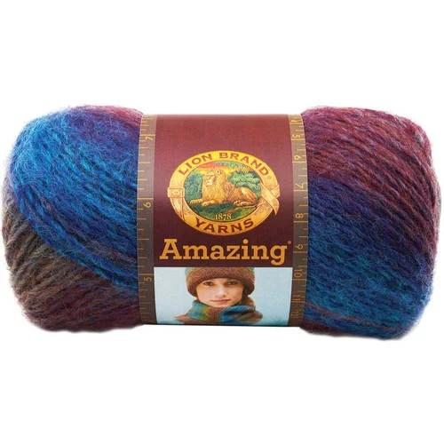Lion Brand Yarn Amazing Glacier Bay 825208 Fashion