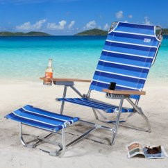 Beach Chairs With Footrest Folding Chair Fabric Padded Rio Big Kahuna And Umbrella Package Walmart Com
