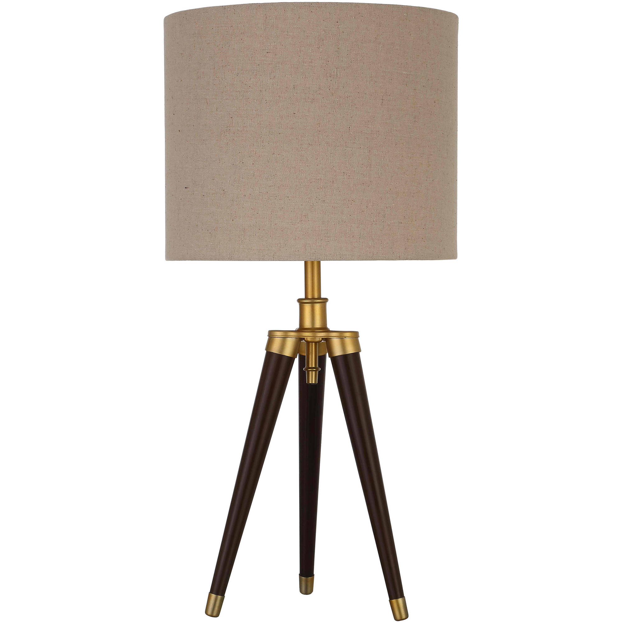 hight resolution of better homes and gardens tripod lamp tripod table lamp easy on off switch 22 height 55 9cm mocha finish walmart com