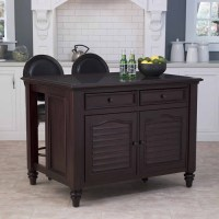 Home Styles Bermuda Kitchen Island and Two Stools in ...