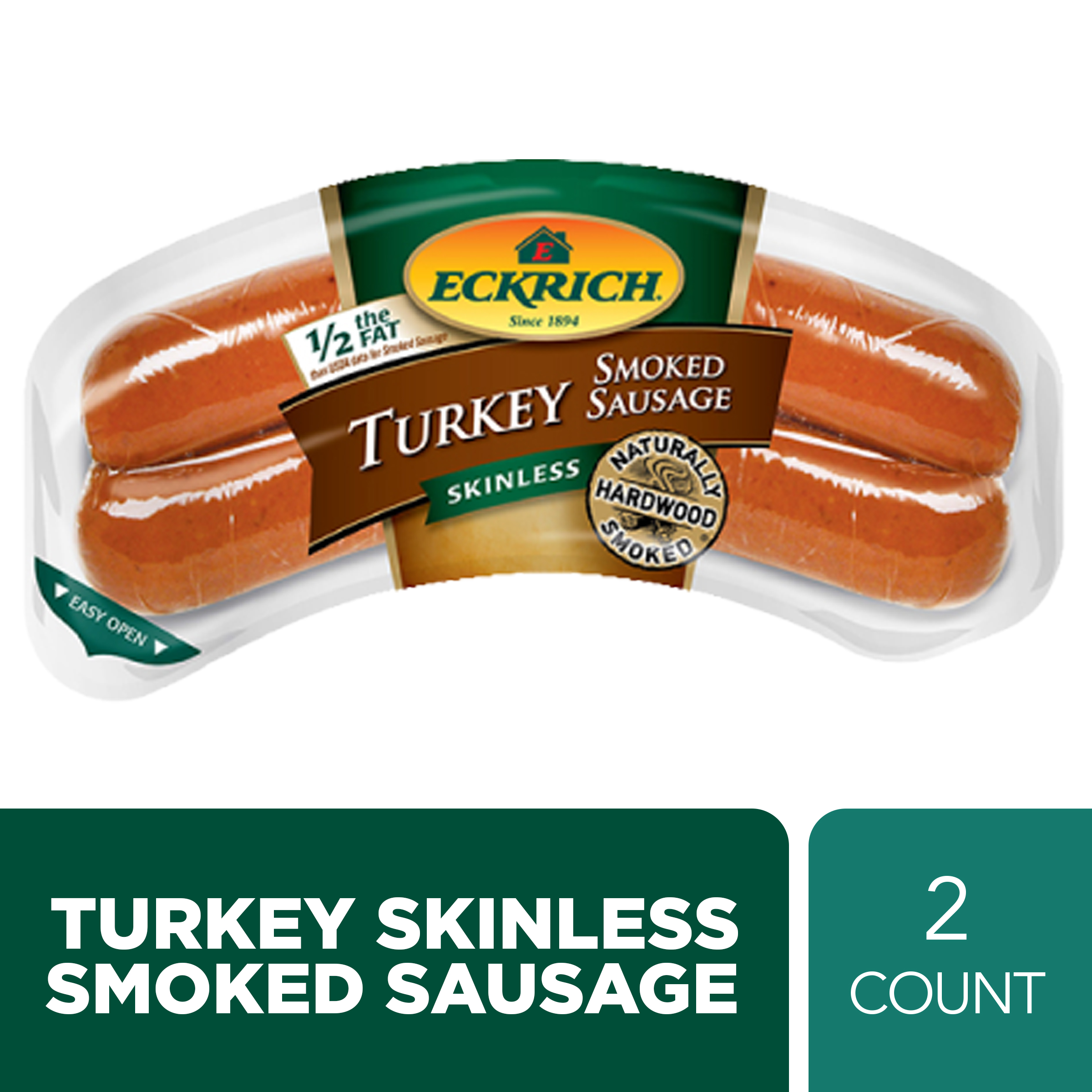 Eckrich Skinless Turkey Smoked Sausage 13 oz - Walmart ...