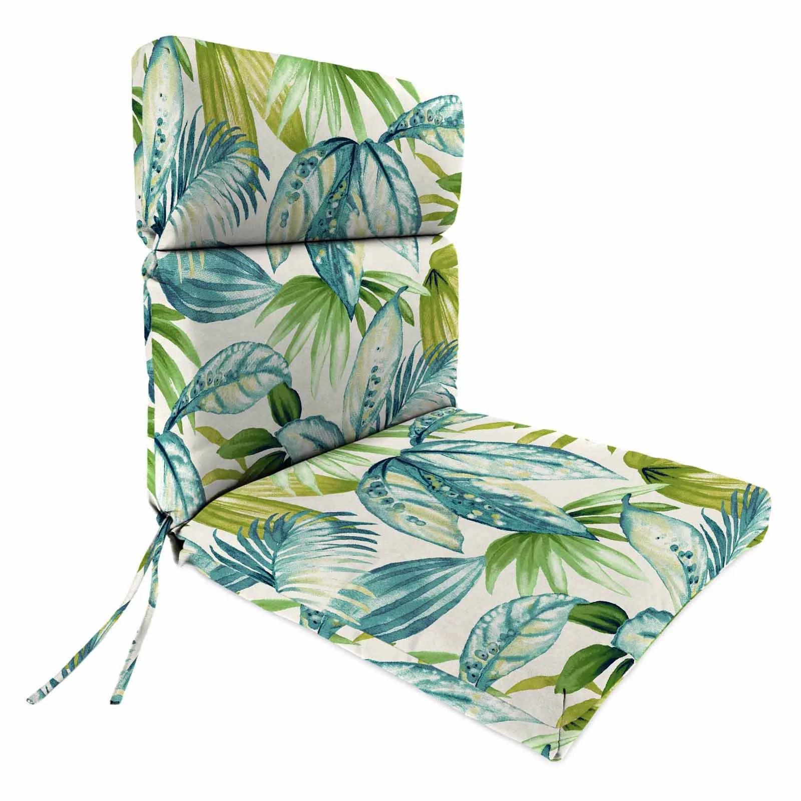 jordan manufacturing high back seneca caribbean outdoor chair cushion