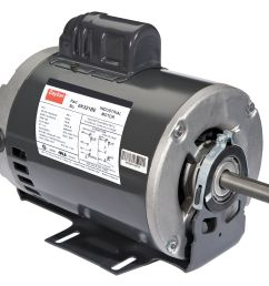 dayton 1 hp belt drive motor capacitor start 1725 nameplate rpm 115 208 230 voltage frame 56 6k321 walmart com [ 1500 x 1326 Pixel ]