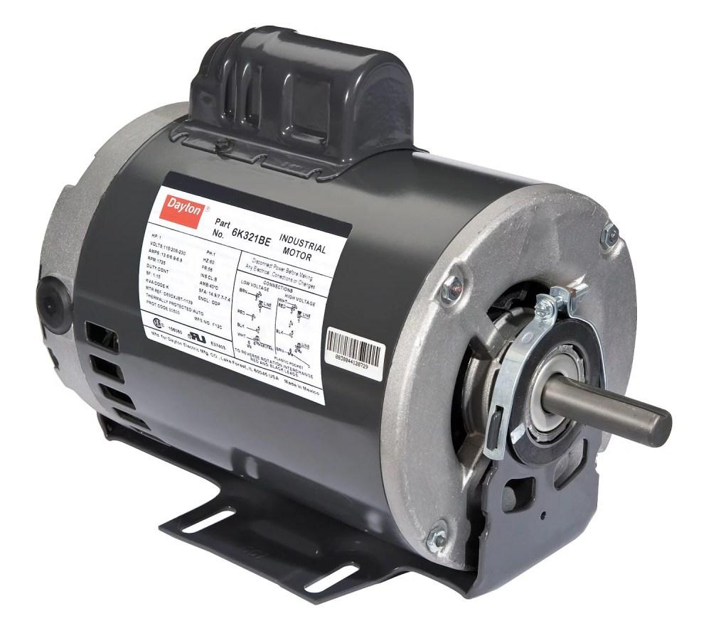 medium resolution of dayton 1 hp belt drive motor capacitor start 1725 nameplate rpm 115 208 230 voltage frame 56 6k321 walmart com