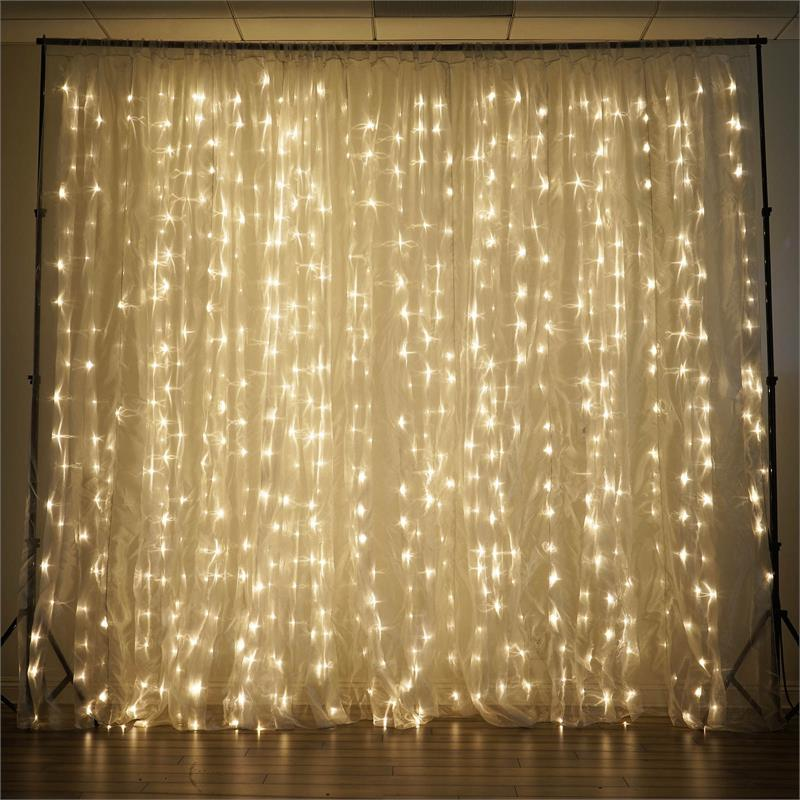 efavormart 20 ft x 10 ft led lights organza backdrop curtain photography background organza fabric photo booth studio background