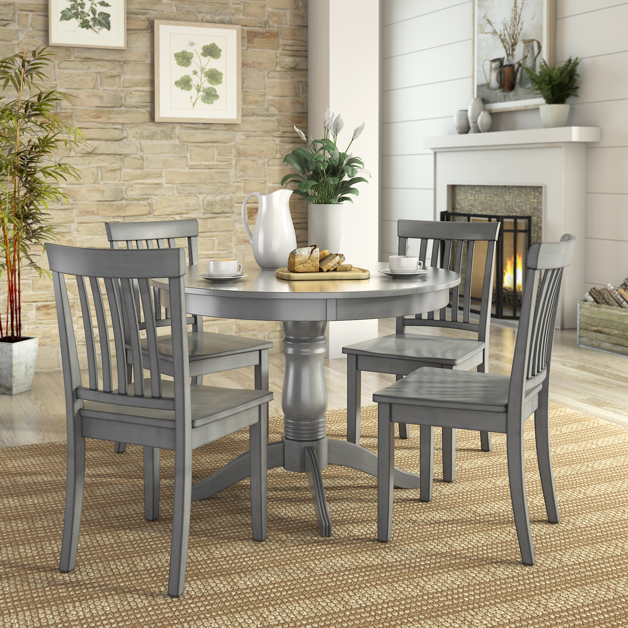lexington dining chairs dallas cowboys 5 piece set with round table and 4 mission back
