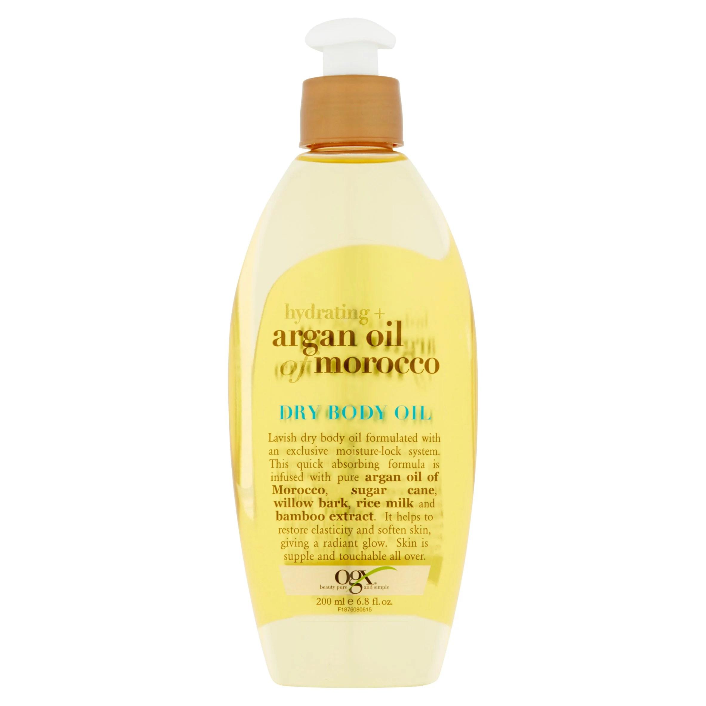 Ogx Hydrating + Argan Oil of Morocco Dry Body Oil 6.8 fl ...