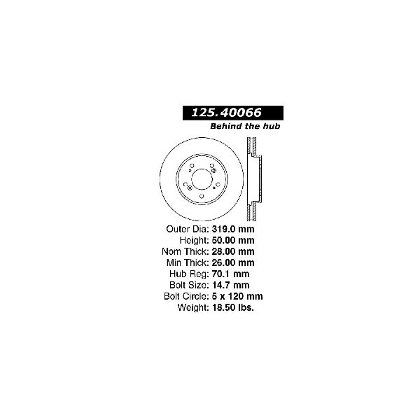 Go-Parts OE Replacement for 2005-2012 Acura RL Front Disc