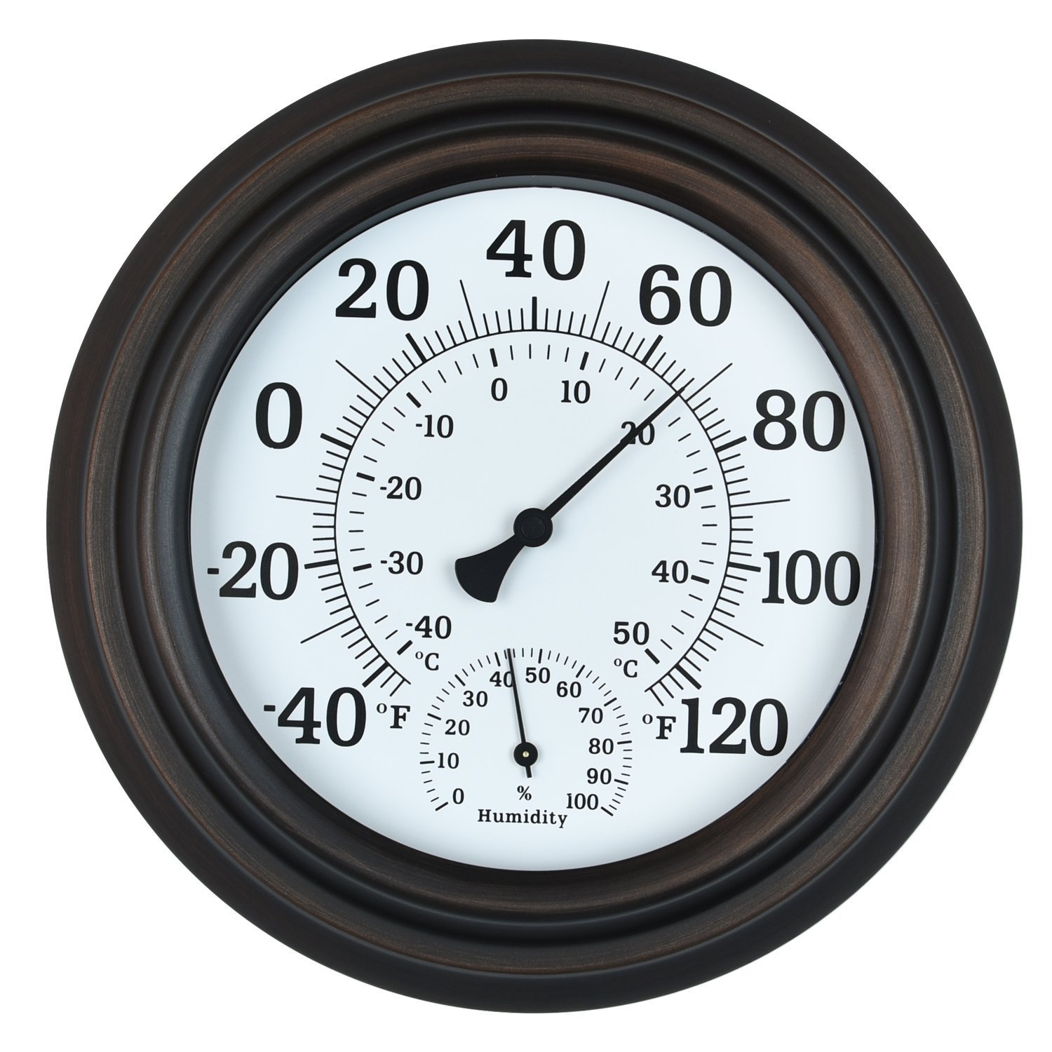 Juslike 8 Inch Thermometer Indoor Outdoor 8 Patio Wall