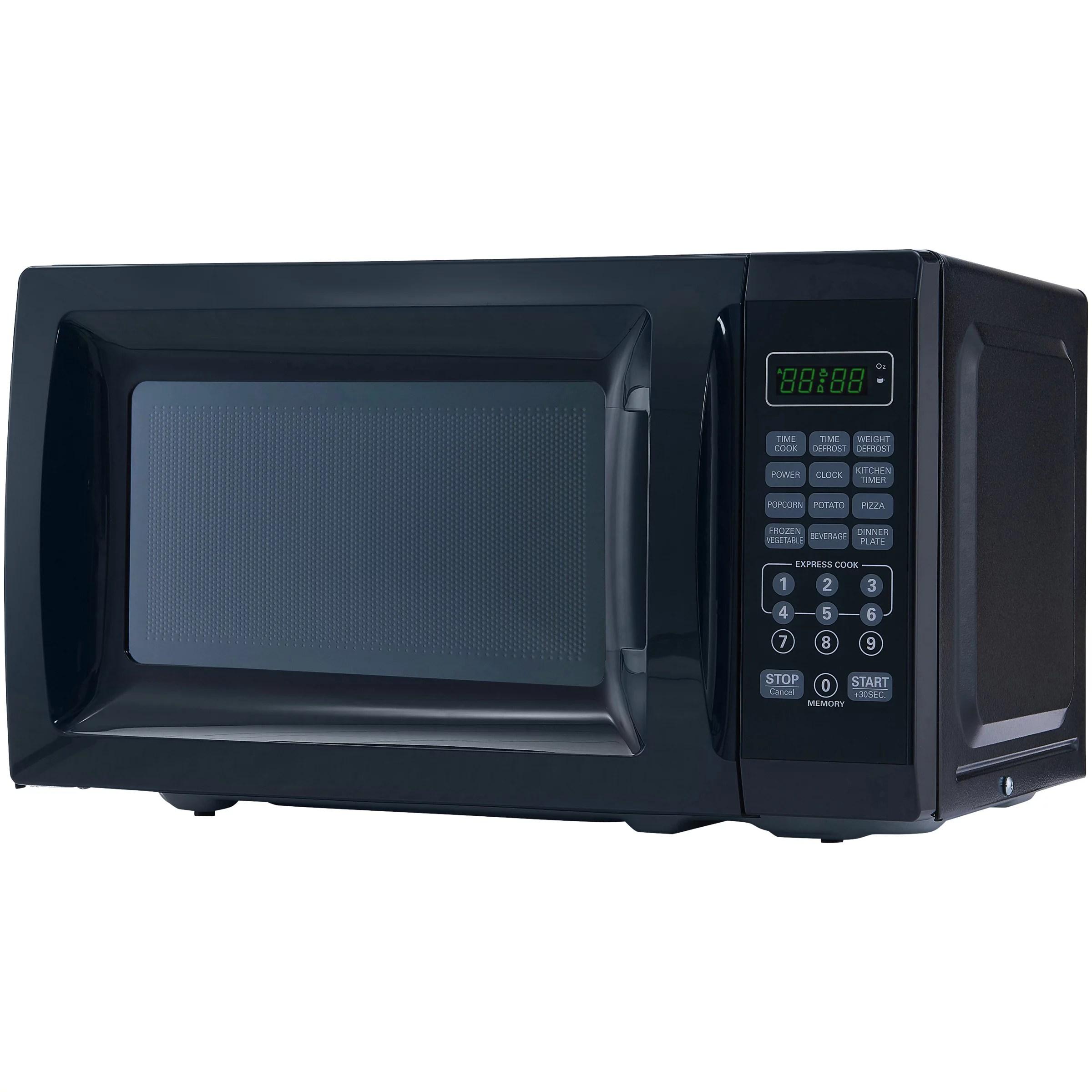 mainstays 0 7 cu ft 700w black microwave oven walmart com