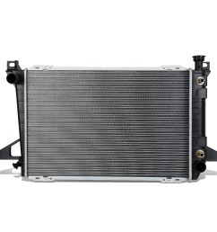 for 1985 1996 ford f150 f250 f350 bronco 4 9 mt at factory style full aluminum core 1452 radiator walmart com [ 1200 x 1200 Pixel ]