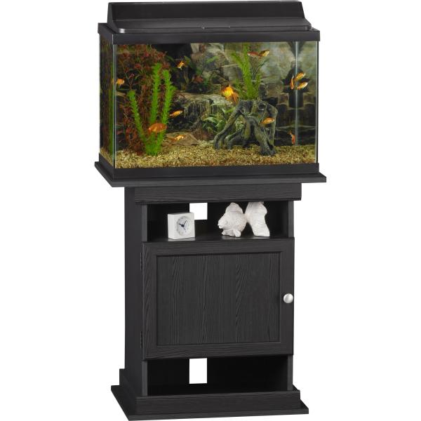 10-20 Gallon Aquarium Stand Fish Tank Display Table Cabinet Furniture Black Oak 689550391433