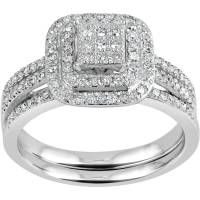 Forever Bride 1/4 Carat T.W. Diamond Bridal Set in ...